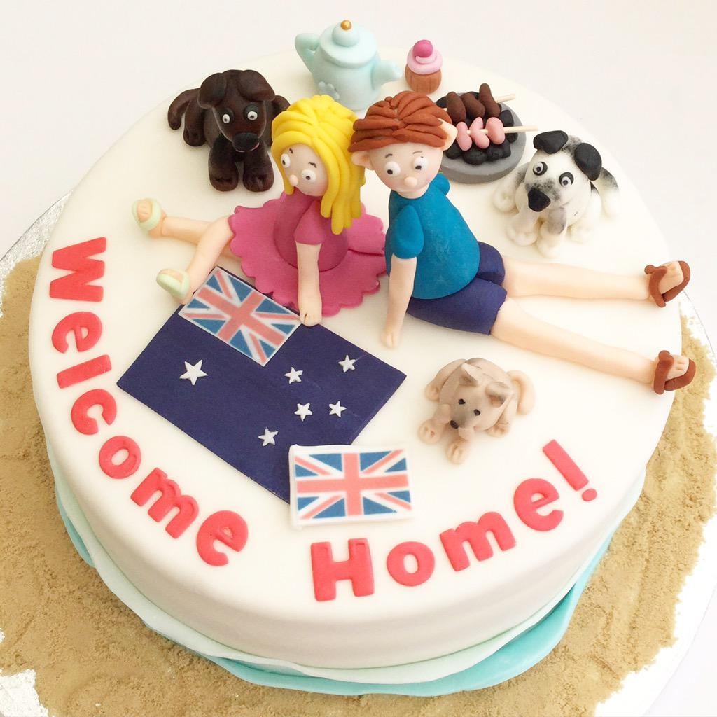 Fairy Dust Bakery On Twitter Welcome Home Cake With An Aussie