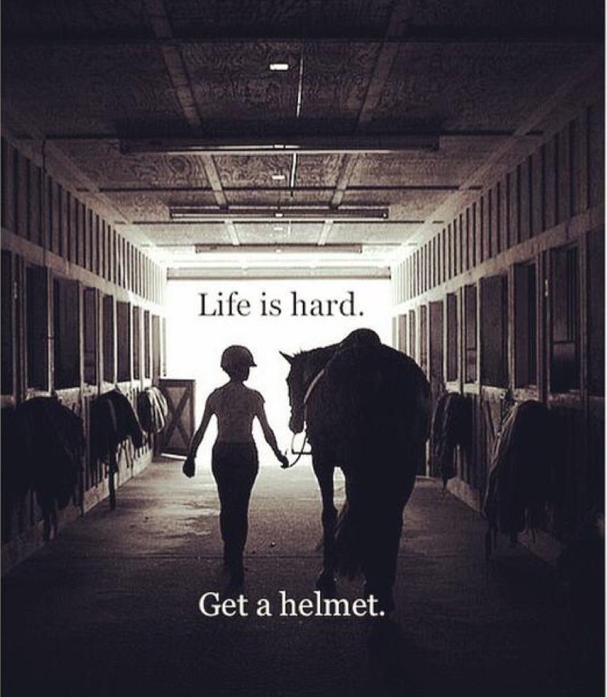Life is hard....wear a #helmet. Traumatic brain injuries not only affect you, they affect your family as well. http://t.co/2j0952Euzf