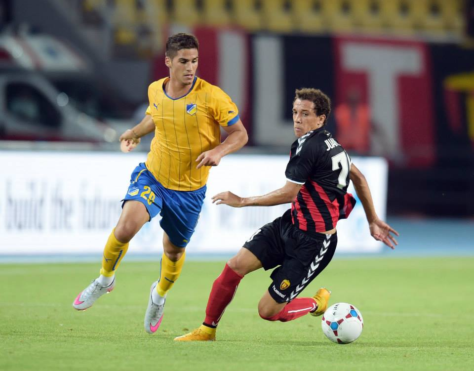 Juan Felipe was the lone Vardar attacker that showed flashes