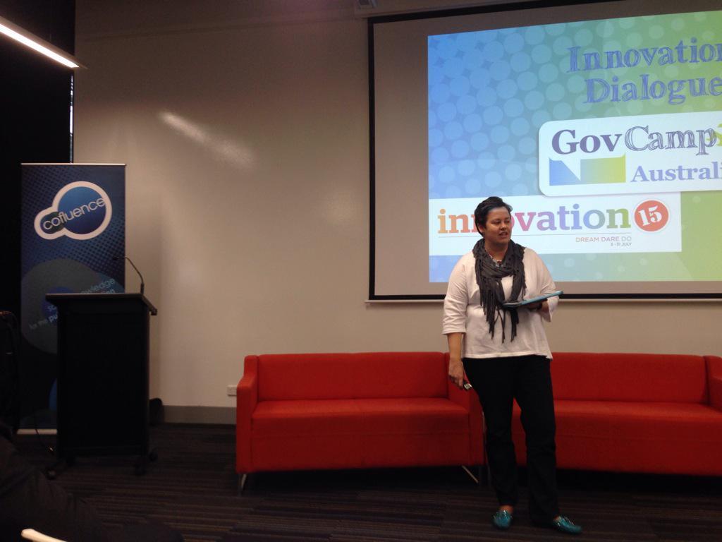 .@allisonhornery kicking off the #CBR @GovCampAU #Innovation Dialogue #psinnovate15 #gcau #iDcbr http://t.co/4vGQVavGMs