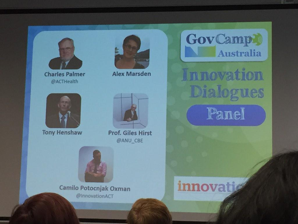 Speakers at the Canberra Innovation Dialogues #gcau #idcbr #psinnovate15 http://t.co/l7Aor3hXpy