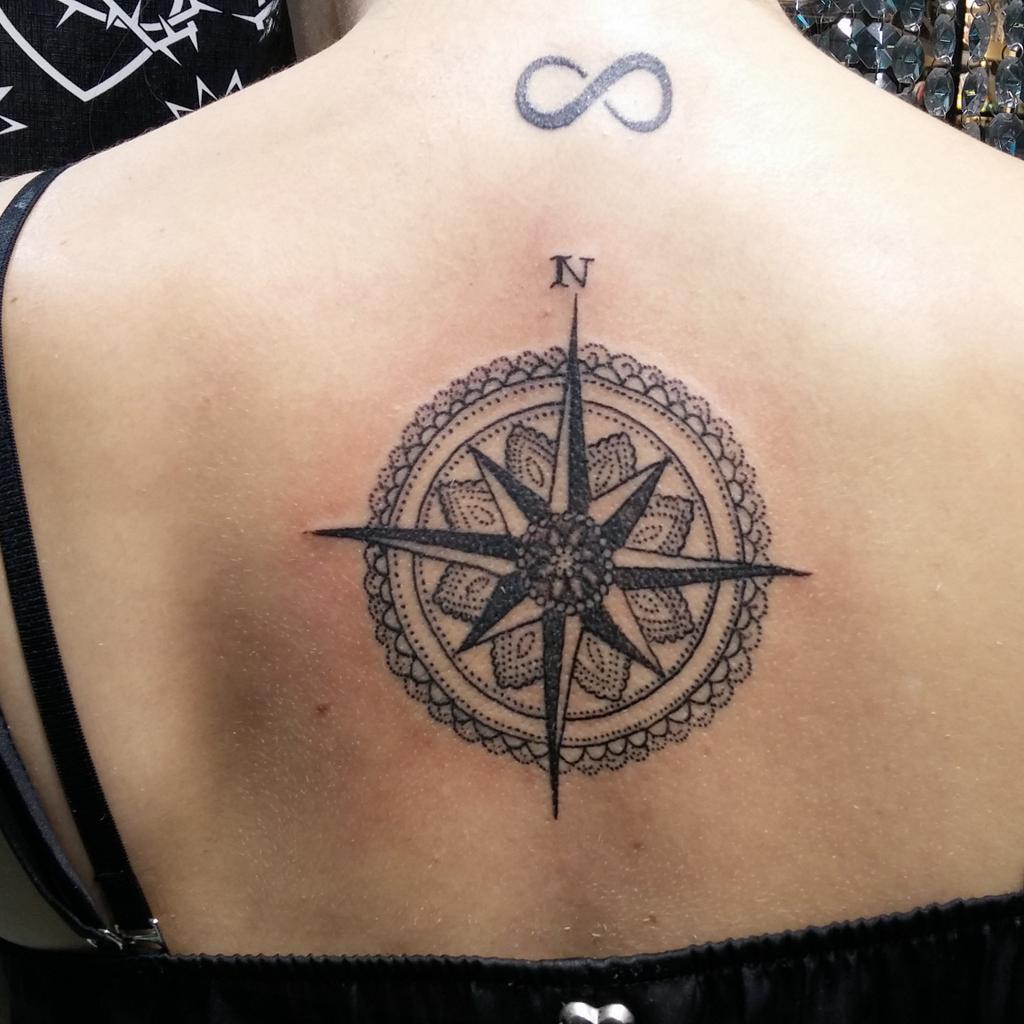 American Tattoo On Twitter Rosa De Los Vientos By Dardo Httpt