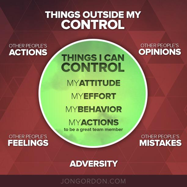 "Focus On What You Can Control Quotes: Jon Gordon On Twitter: ""Control What You Can Control And"