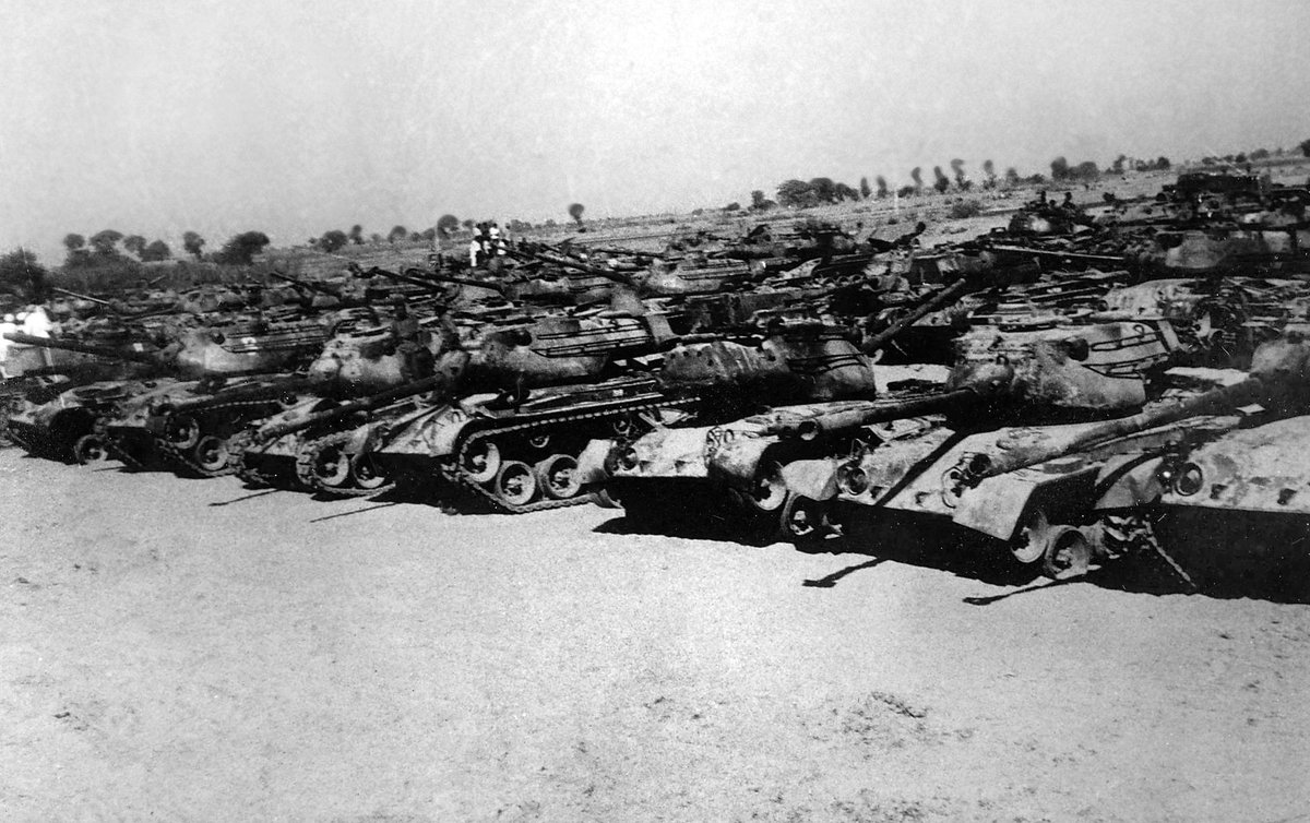 "A. Bharat Bhushan Babu on Twitter: ""#1965War Patton Tank graveyard near  #Bhikhiwind village..Pakistani tanks captured at the #BattleofAsalUttar.  http://t.co/p3AOBUfeS3"""