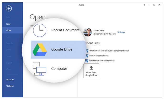 Now you can access your MS Office files on Google Drive