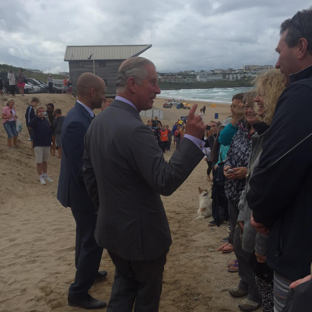 Lovely & unexpected to meet and shake hands with Prince Charles #oceanplasticsday - he has the sea & sky in his eyes. http://t.co/KqwCic3HIh