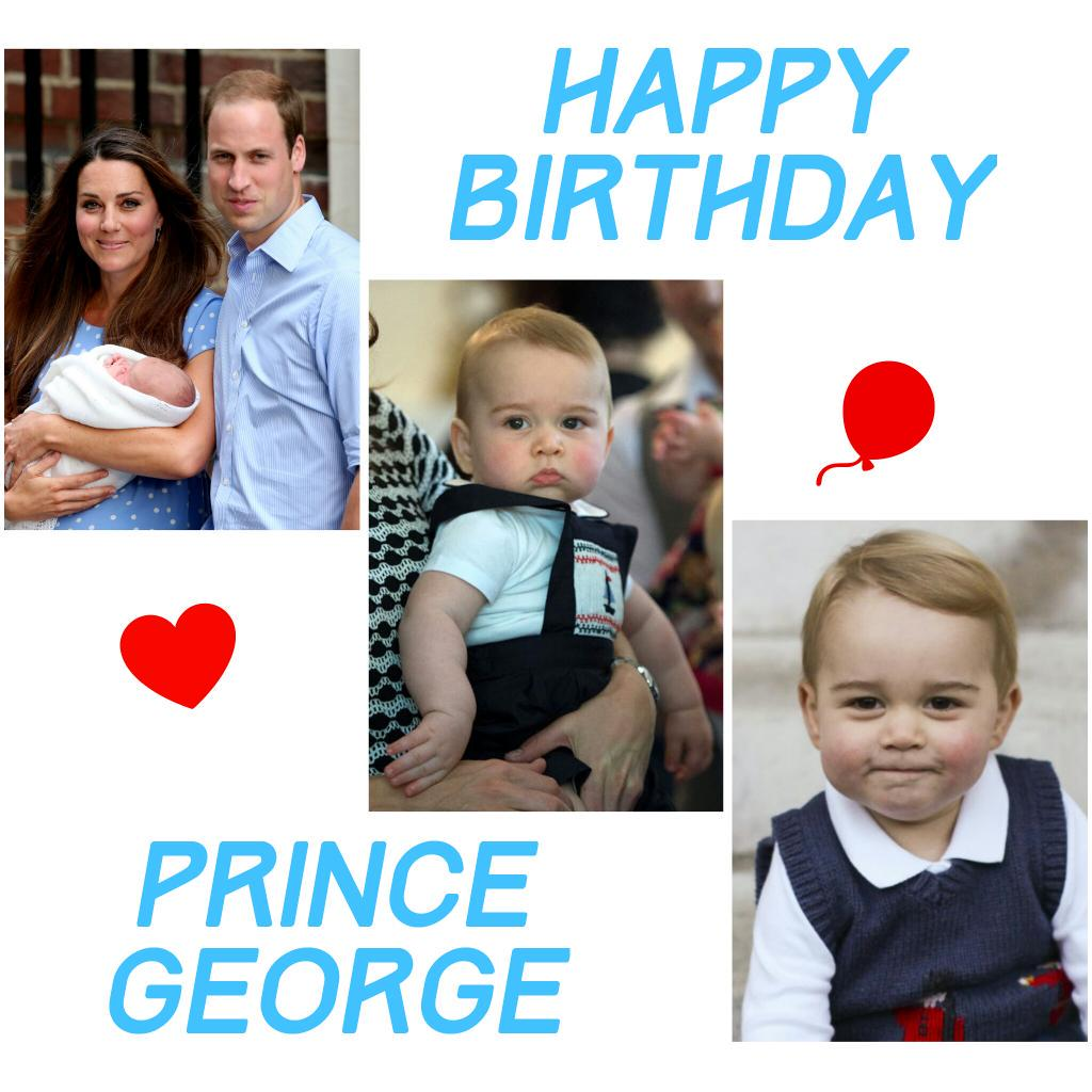 Happy 2nd Birthday Prince George 🎈🎂🎁♥ #HappyBirthdayPrinceGeorge #2ndBirthday http://t.co/JNexpgymTn