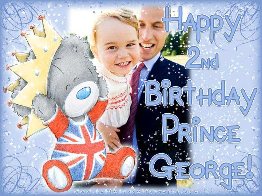 Lovely pic from the Me to You page on facebook; Happy birthday Prince George x http://t.co/1zx3MUQf8F