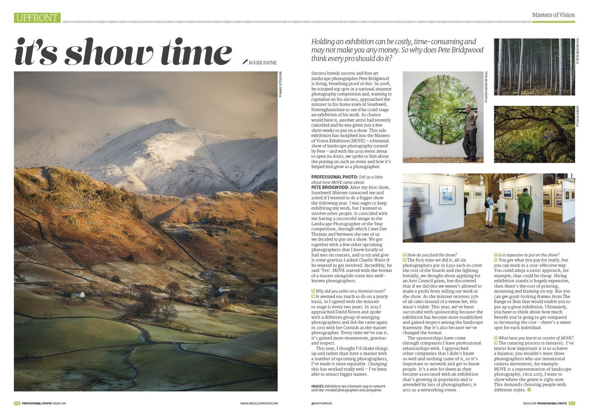 Thinking about exhibiting your work? Make sure you read the interview with @petebridgwood in our latest issue http://t.co/cgJxGkR12H