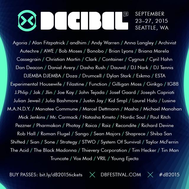 We've just announced the full #dB2015 lineup - http://t.co/zBroxG42vw. RT for your chance to win a festival pass! http://t.co/JmlDW3i7uz