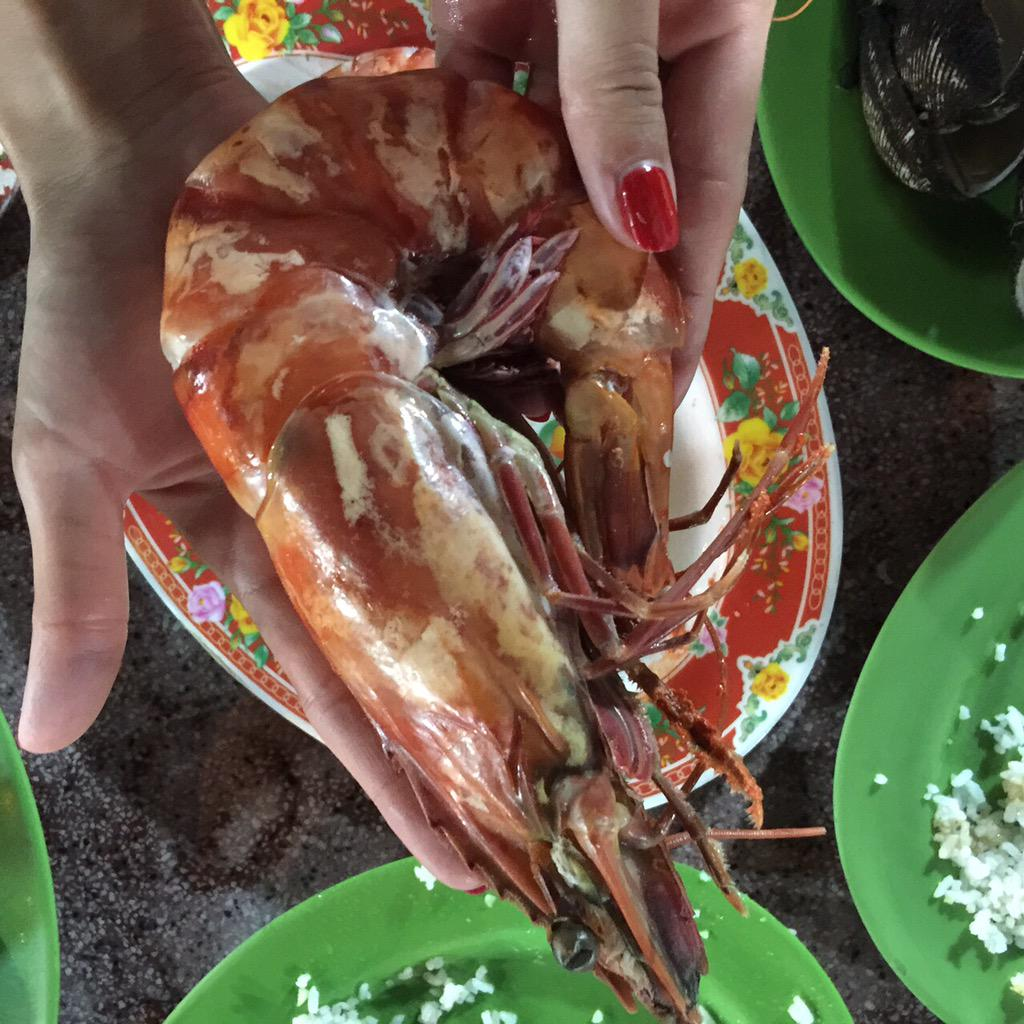Okay... I didn't eat cobra today but I ate giant shrimps!!!! http://t.co/L6uh5FMtR0