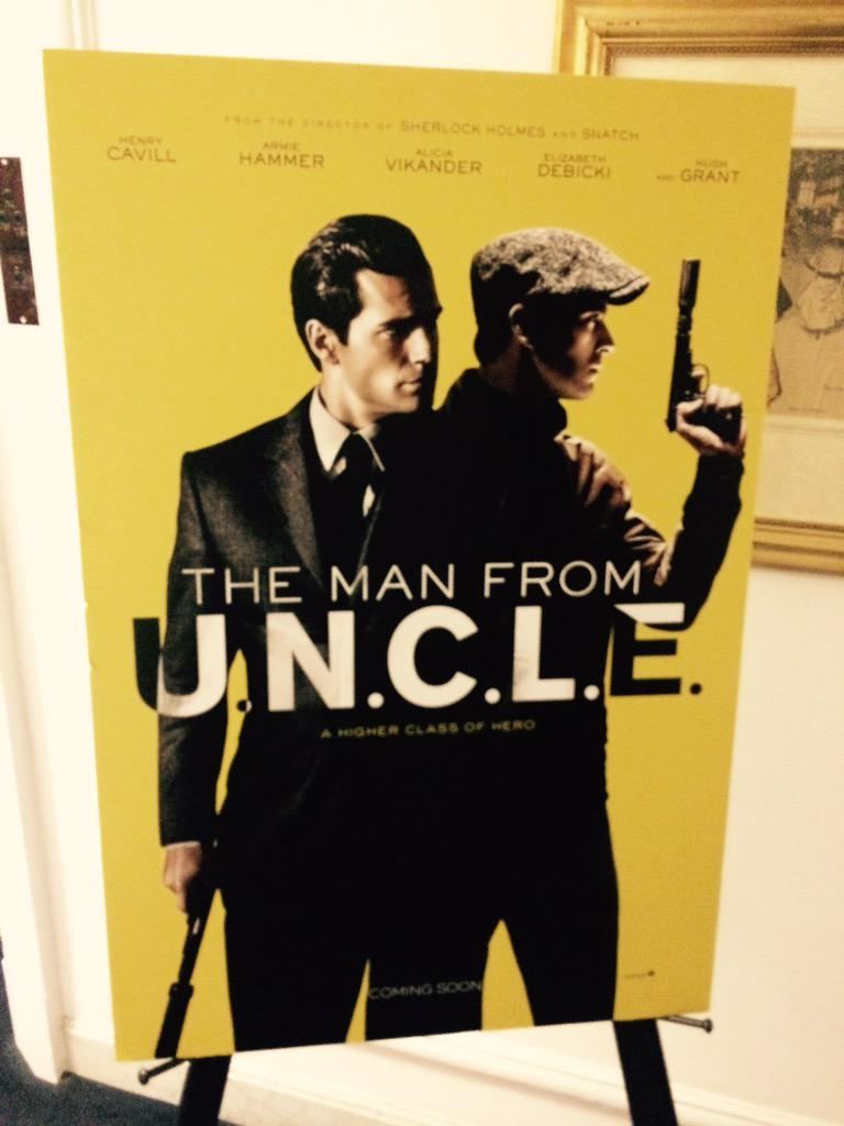 That's a wrap on the @ManFromUNCLE UK junket for @skymovies FULL SPECIAL COMING SOON... http://t.co/uTdyVDsuj4