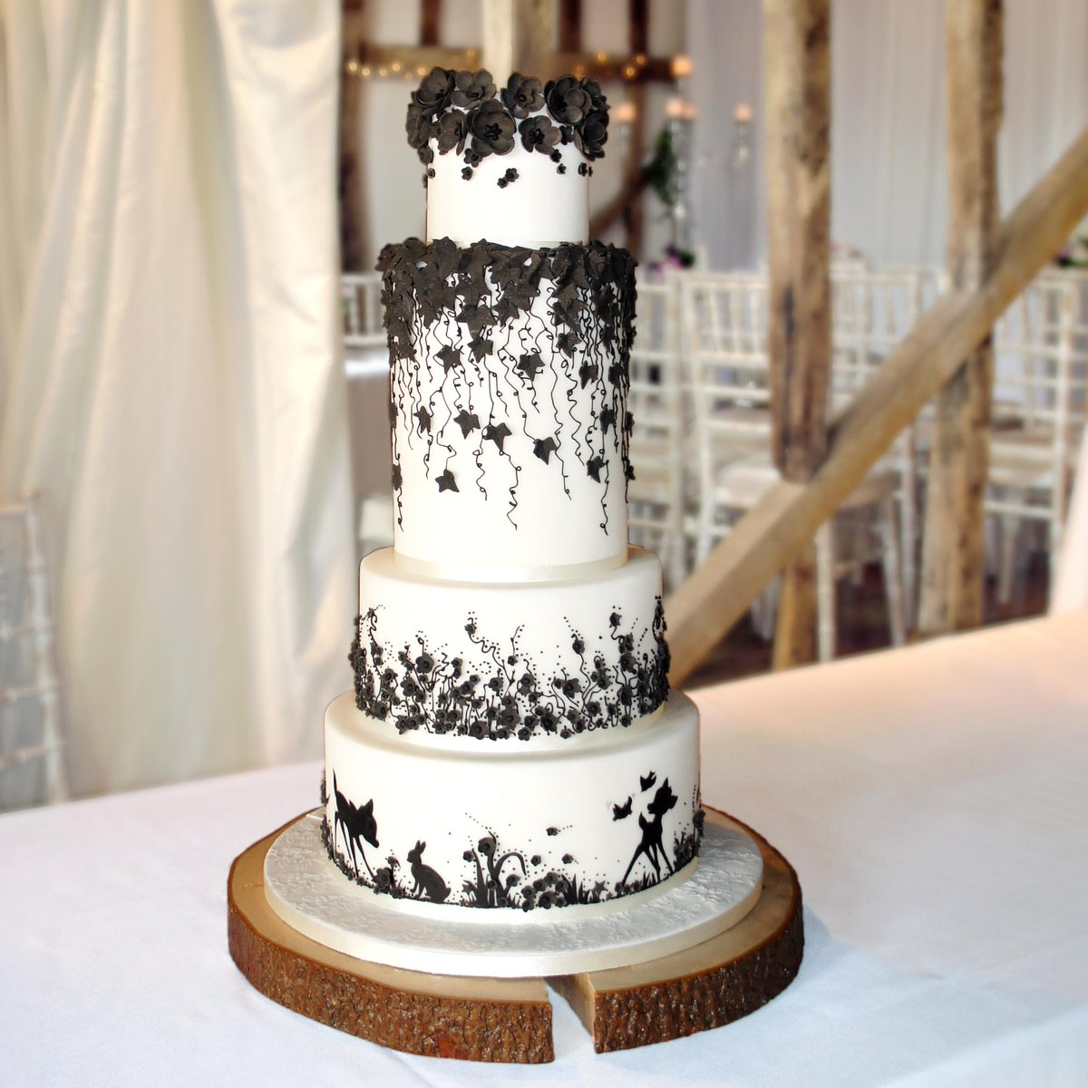 black lace wedding cakes cake amp lace weddings cakeandlacewedd 11869