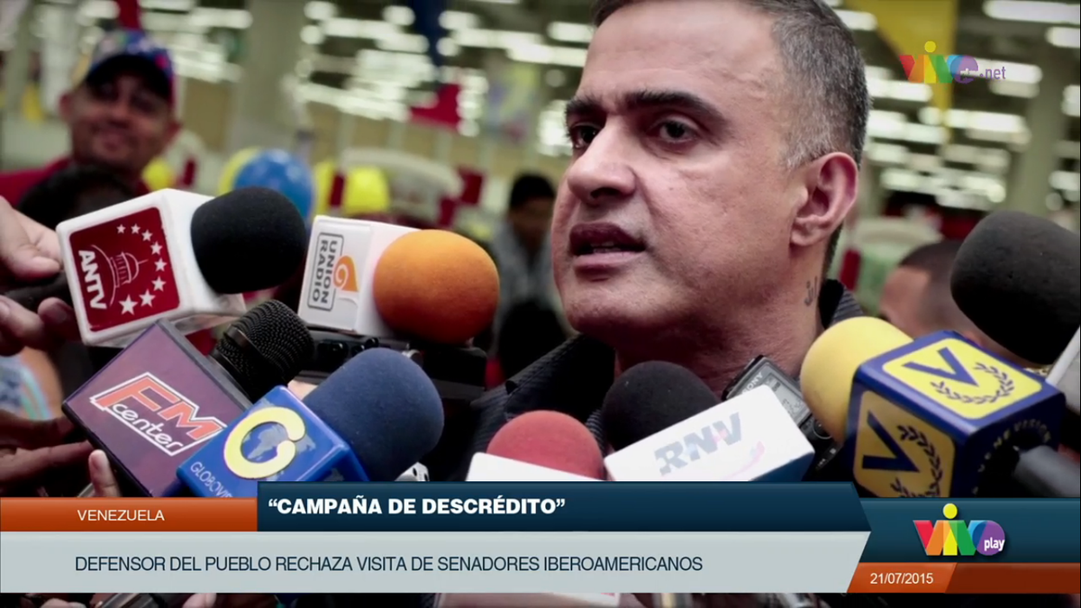 #Venezuela Defensor @TarekWiliamSaab rechaza visita de senadores iberoamericanos a Caracas #EnVIVO http://t.co/KPMiso6luY