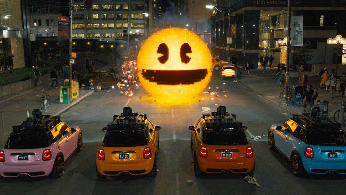 """""""Pixels"""" is Adam Sandler's best movie since """"Jack & Jill"""". My review: http://t.co/mCX2fHFlSJ http://t.co/npBfRYeUmF"""