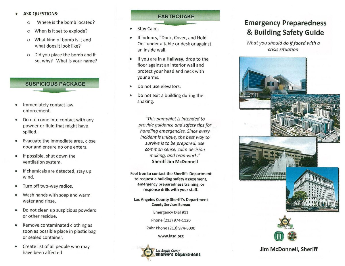 Here's what to do in a crisis situation...always be prepared #emergencypreparedness #CSS #LACounty @lacountysheriff