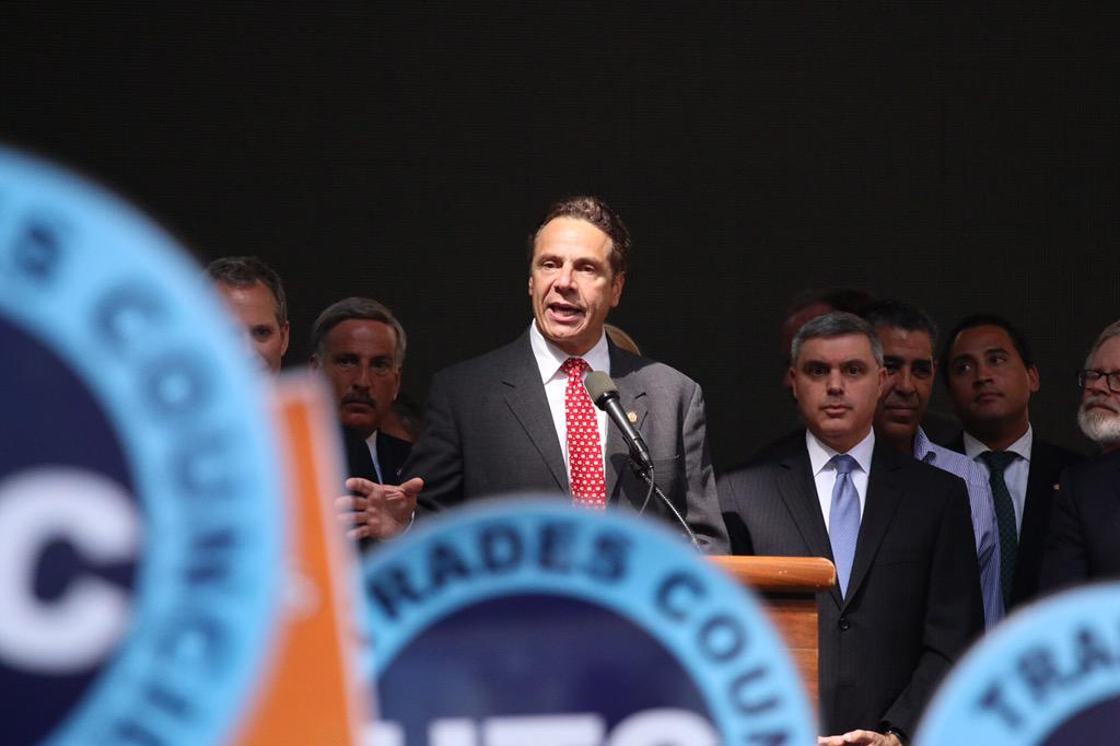 "Governor Cuomo says, ""NY state is going to lead the way."""