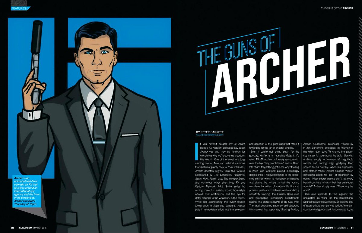 Are you an Archer fan? Check out the Guns of Archer article in the March issue of GunUp. http://t.co/ltl9sXTdUQ http://t.co/2UJppnbjLi
