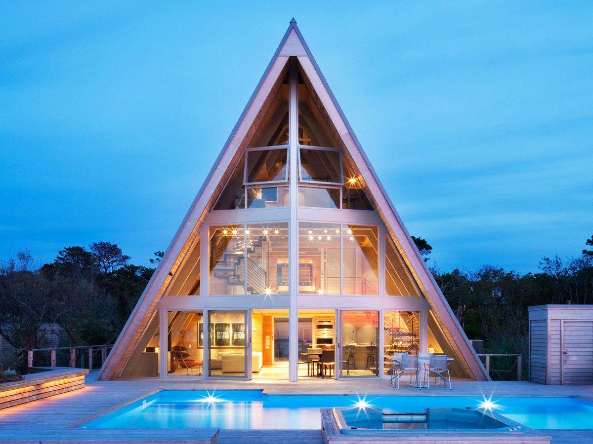 Треугольные дома картинки