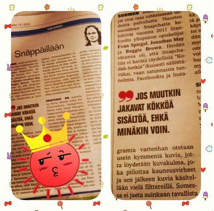 Esimerkki Instagram-markkinoinnistani: kuva Suur-Jyväskylän kolumnista. Lainaus sopii myös kuviini ;) #cmadfi http://t.co/1PHI4XcEmP