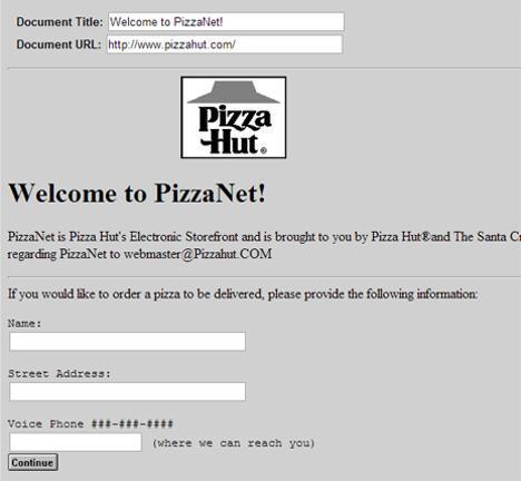 Order resume online pizza hut
