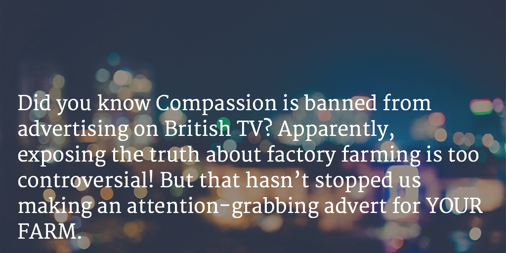 .@ciwf banned from advertising on TV. The truth about factory farming too controversial http://t.co/LrhDZYGGWU http://t.co/3gv3qb719o