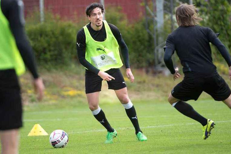 Daniel Ivanovski at a training; photo: blt.se