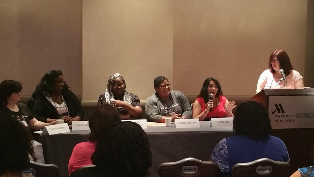 Diversity in Romance panel with @AlishaRai @FarrahRochon @rebekahwsm @SugarJamison @CorrinaLawson #RWA15 http://t.co/CNVeGmgzwx