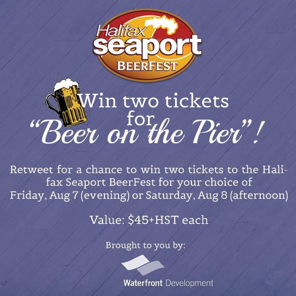 CONTEST: Retweet for a chance to win two tickets to @SeaportBeerfest Aug 7-8 on the #Halifax waterfront! http://t.co/zRWVpzH7zR