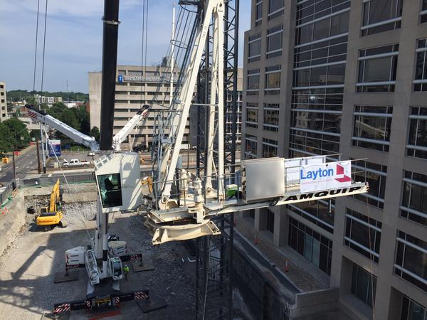 Tower Crane Nashville : Layton construction on twitter quot demolition is done the