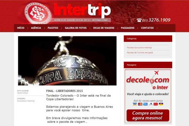 Pacote para a final da Libertadores no site da Intertrip não é coisa de hackers. É mancada: http://t.co/gaZrBo4Dfx http://t.co/tnKLABVAzj