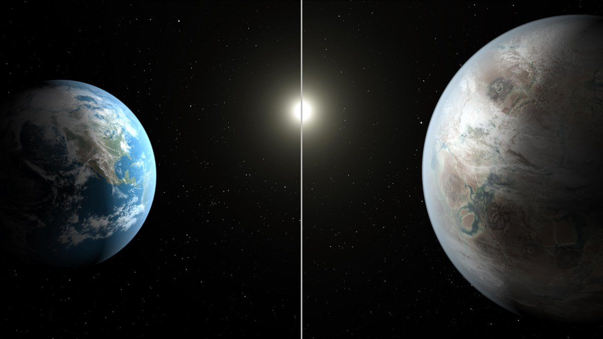 Kepler-452b is 60% larger in size than Earth and its sun is 10% larger. http://t.co/9QbWx6wPXi http://t.co/98VjEsSVbo