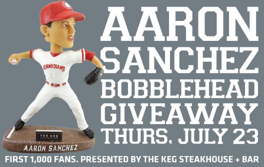 Twitter post: RT @vancanadians: The day is here! @A_Sanch41 Bobblehead…Read more. Opens full post in an overlay
