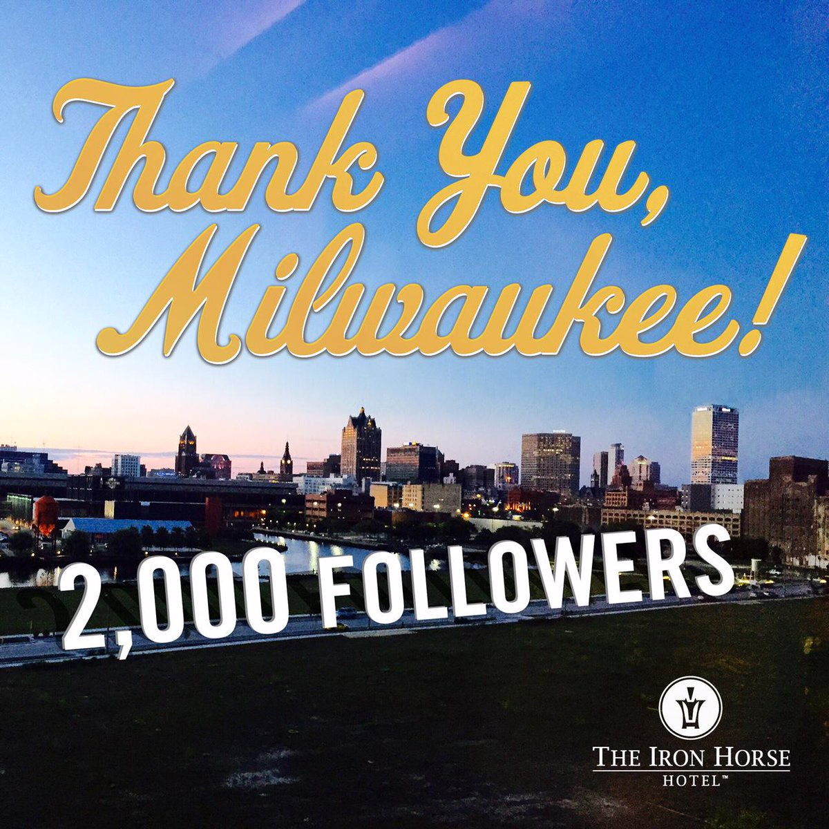 We passed 2K on Instagram! To celebrate we're giving away a FREE night stay The Iron Horse! Retweet to enter contest! http://t.co/h3JhMkq9mU