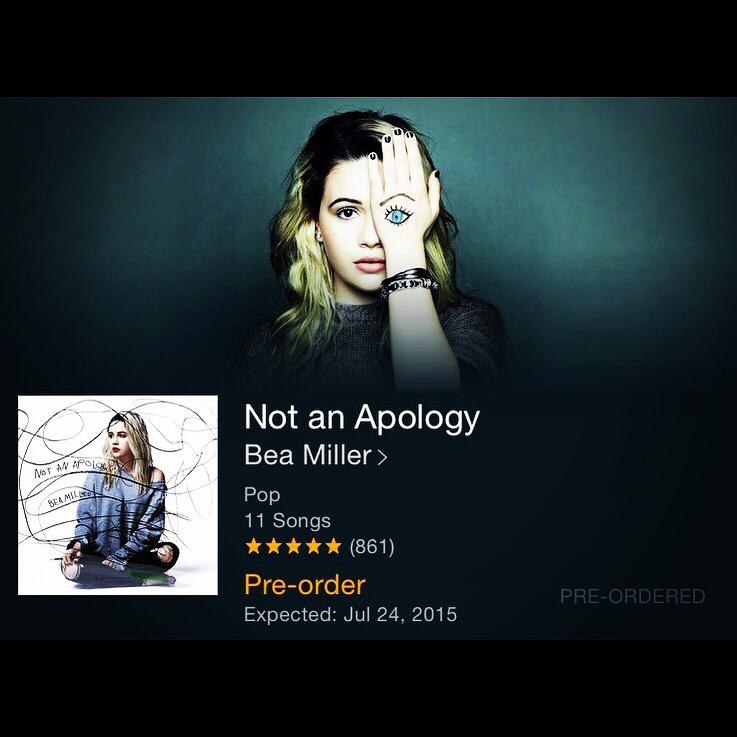 Order your copy of @beamiller's FIRST full length album! Available tonight at midnight!!! #beamiller #notanapology http://t.co/chCsarLAYv