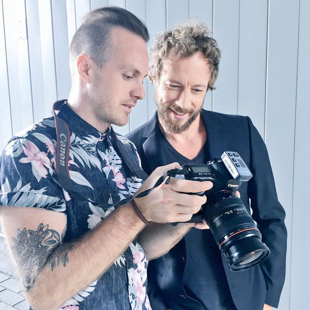 #BTS with @vikpiccreative @KrisHolden_Ried shooting a special feature story for the next issue of #gotstyleman