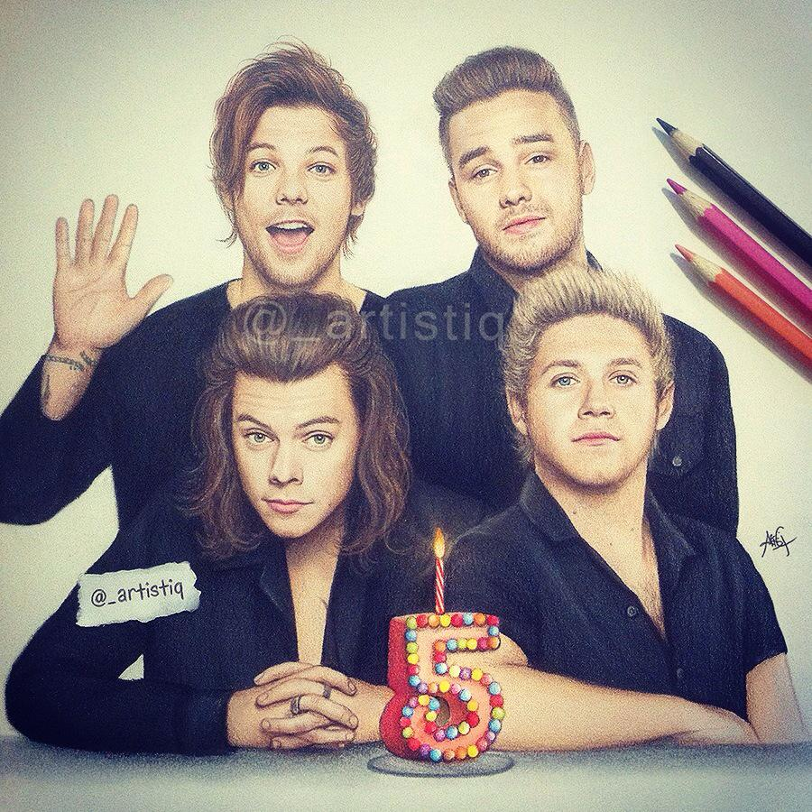 Artistiq On Twitter Happy 5th Anniversary Onedirection