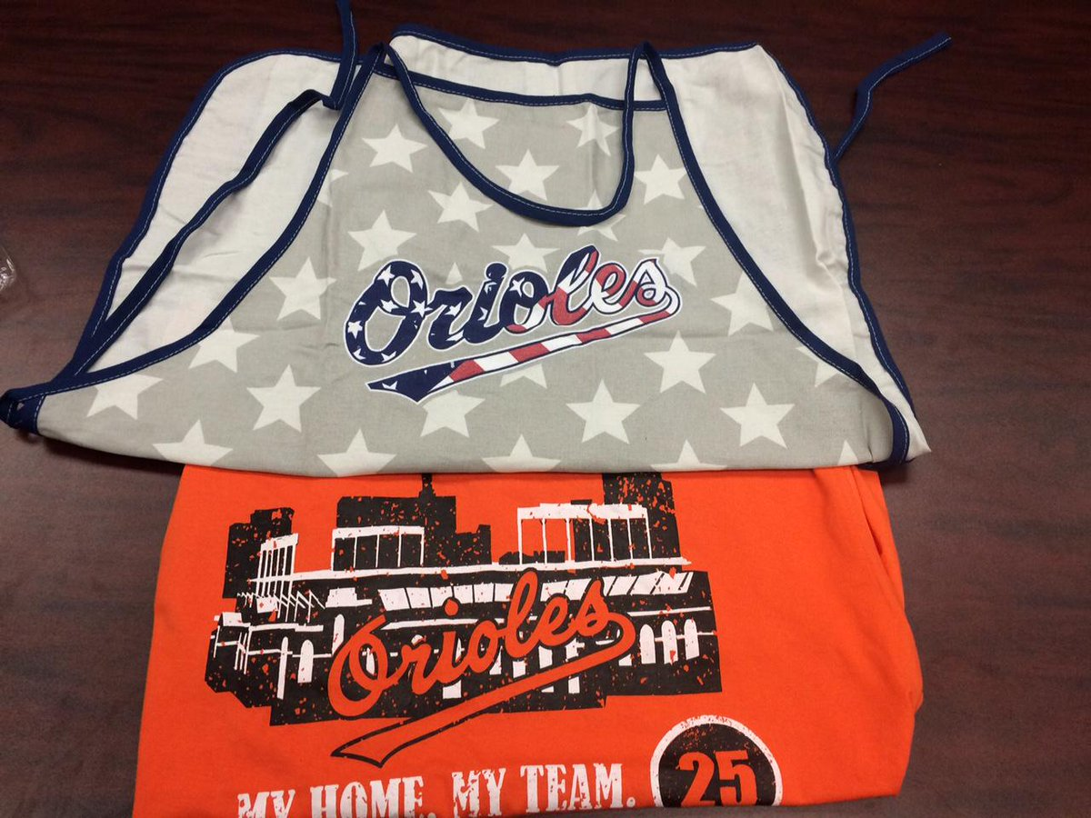 Today's prize comes from our big brothers at the @Orioles! RT before 5 p.m. to be entered to win an apron and shirt! http://t.co/KThMW5voh3