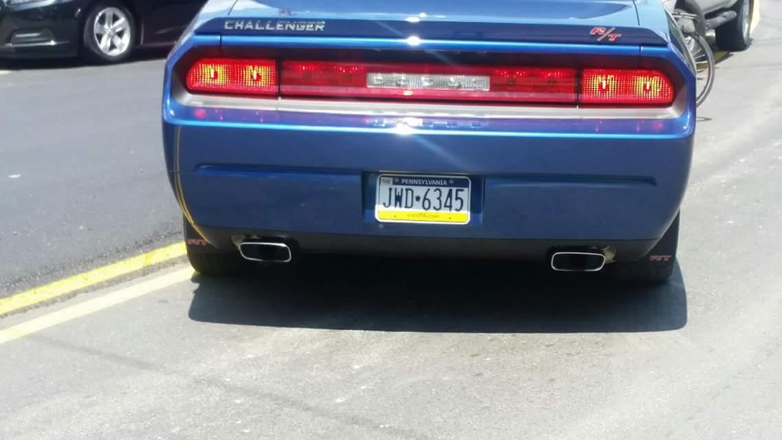 Help need! This car was involved in a hit and run on a bicyclist in Lawrenceville. It's a blue Dodge Challenger RT. http://t.co/IGvIaihkeB