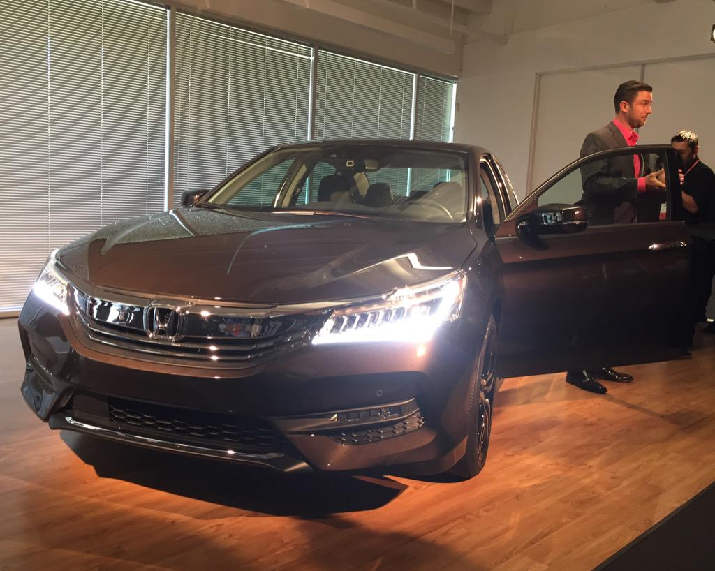 Perfect New Face On The 2016 Honda Accord Touring Model (LED Headlights On This  Version Only