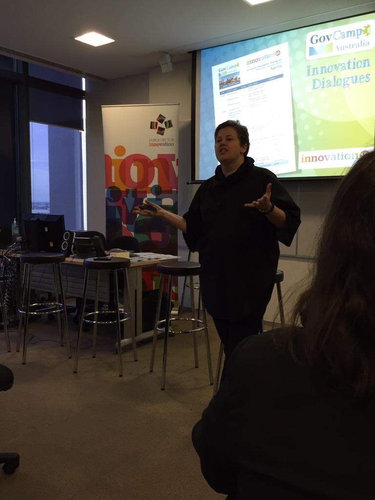 Allison kicking off GovCamp Melbourne session this morning #gcau #psinnovate15 http://t.co/hJhsDWxCbi