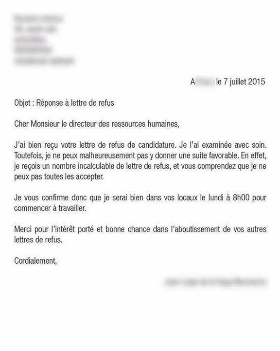 """Lettre De Motivation Francais: Johann Pagès On Twitter: """"#RH La Lettre De Réponse"""