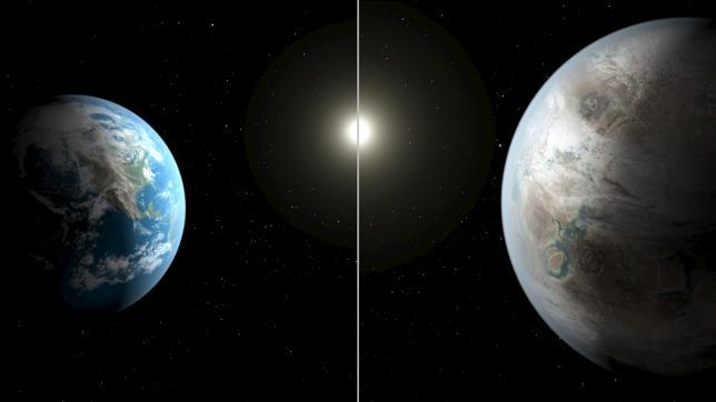 NASAの専門家は、地球に非常によく似た惑星を発見したと発表。地球から1400光年離れた場所に位置し、大きさや温度が太陽と似た恒星の周りを385日周期で回っているという http://t.co/se6pdhdGEm