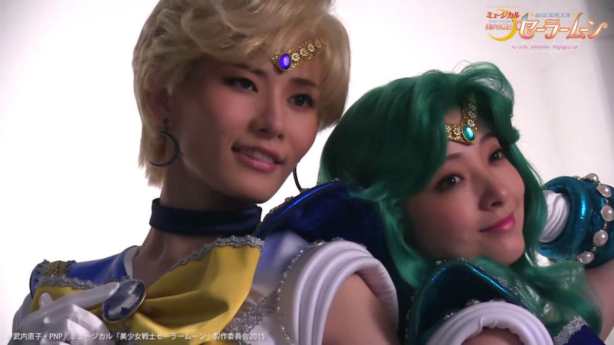 AAAAAHHHH!!!!! A message from the Musical's Sailor Uranus and Neptune! THEY LOOK SO AMAZING!! https://t.co/HhRlWtx2Jv http://t.co/ACobUK6JiH
