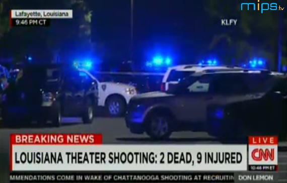 Sign of times: even as @CNN gives news of LA #theatershooting, they're scrolling details of another mass shooting. http://t.co/iwEhK51x7j