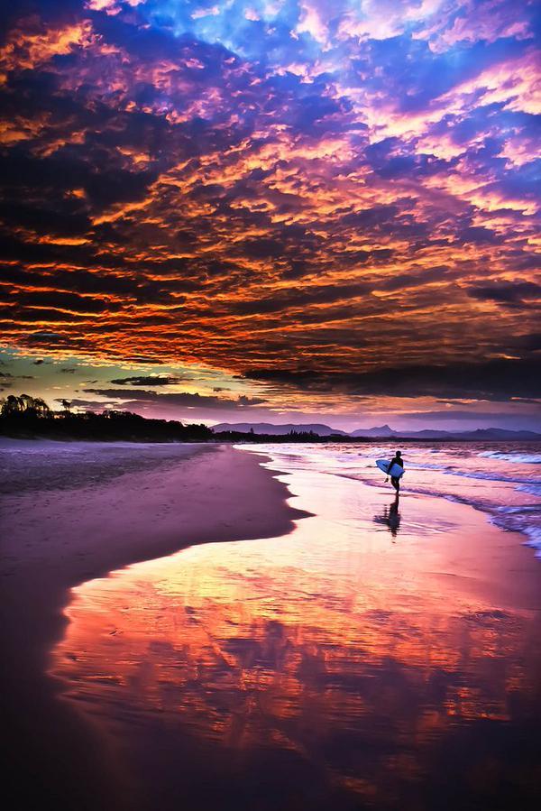 Paisajes incre bles on twitter puesta de sol en byron - Paisajes de australia ...