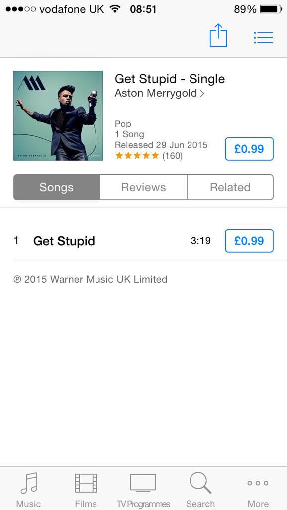 Go support my talented brother @AstonMerrygold #GetStupidOutNow - Single by Aston Merrygold https://t.co/QBHCGwfEbP http://t.co/oeddhgI6iB