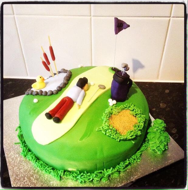 Liz on Twitter asda cakemyday Golf Themed Birthday Cake