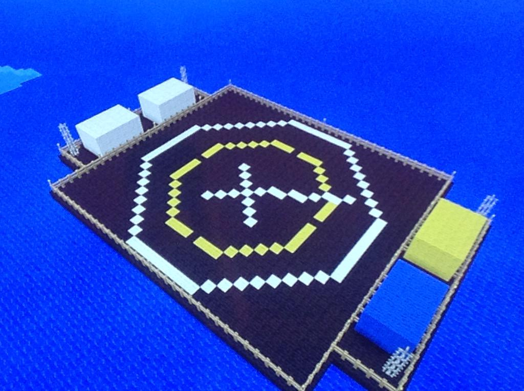 AXM Paper Models On Twitter SpaceX Autonomous Spaceport Drone Ship Done By My Kids With Minecraft Tco GFsPRTXe5O