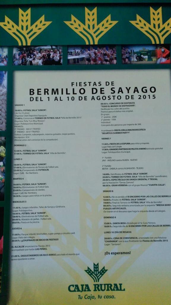 Programa Fiestas Bermillo de Sayago